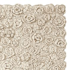 Natural Flora Crocheted Rug | Serena & Lily. Picture only, no instructions to make it. Wish there were!