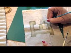 How to paint on fabric using Derwent Inktense Pencils - YouTube
