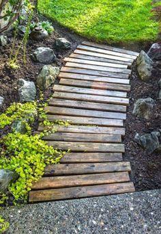 Garden path walkway