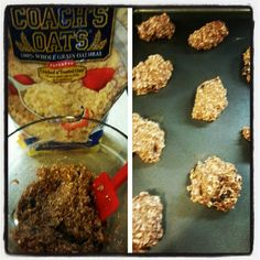 @smgrunning262 makes banana oatmeal cookies with Coach's Oats!
