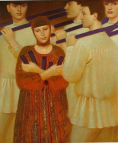 """""""Gorodki game""""                                       Andrey Remnev, 2009    Oil on canvas."""