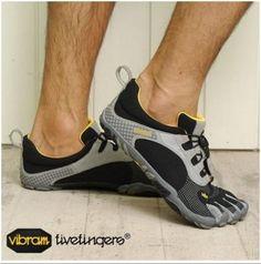 Bikila LS Shoe - Men's Black/Gray 42 by Vibram FiveFingers $97.99