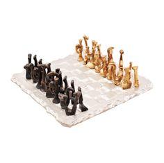 Greek Art. A beautiful sculptured chess. by ArchStudioGallery