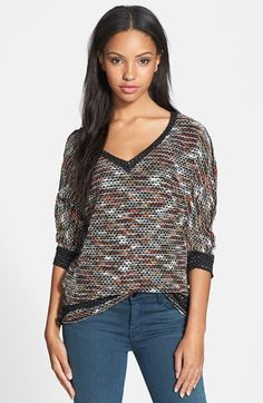 KUT from the Kloth 'Nancy' V-Neck Sweater available at #Nordstrom