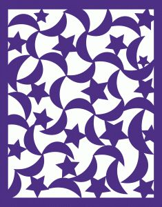 Silhouette Design Store - View Design #63734: moon and star pattern