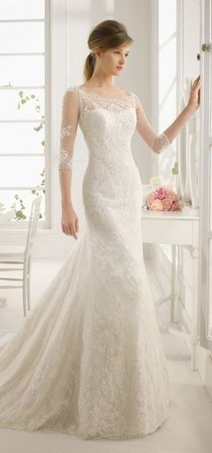 Wedding Dresses Paradise - Aire Barcelona 2015 Bridal Collection - Belle the. Stunning Wedding Dresses, Classic Wedding Dress, Long Wedding Dresses, Tulle Wedding, Bridal Dresses, Wedding Gowns, Bridesmaid Dresses, Wedding Blog, Wedding Ideas