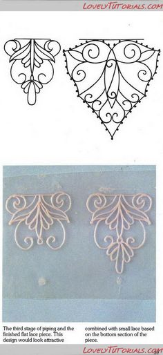royal icing,filigree templates Could do this with either liquid polymer clay or extruded ropes of polymer clay