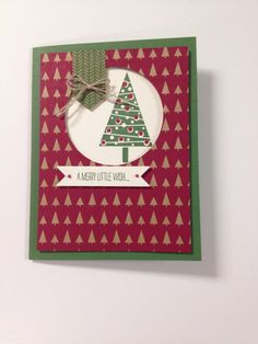 Under the Tree designer paper with the Festival of Trees stamp set