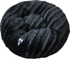 BESSIE AND BARNIE 60Inch Bagel Bed for Pets XLarge Black Puma ** You can get more details by clicking on the image.