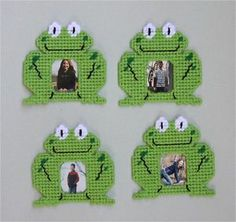 Plastic Canvas Free Patterns With   Magnetic Frog Frames Plastic Canvas Pattern   eBay