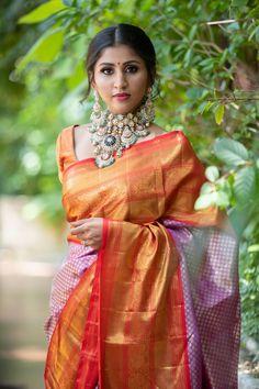 Bridal Jewellery Inspiration, Bridal Jewelry, Photography Women, Portrait Photography, Saree Blouse, Sari, Bridal Blouse Designs, Wedding Sarees, India Beauty