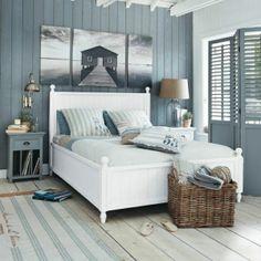la décoration marine pour votre chambre à coucher, peinture murale, deco mer, idée