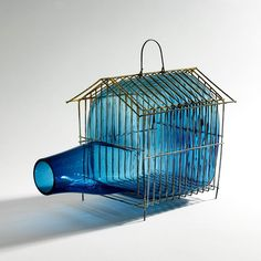 Marion Friedmann Gallery presents 'Out of the cage' - Glass art by Gala Fernandez Glass Vessel, Glass Art, London Design Festival, Mexican Designs, Contemporary Sculpture, Contemporary Art, Recycled Art, Holiday Gift Guide, Home Art