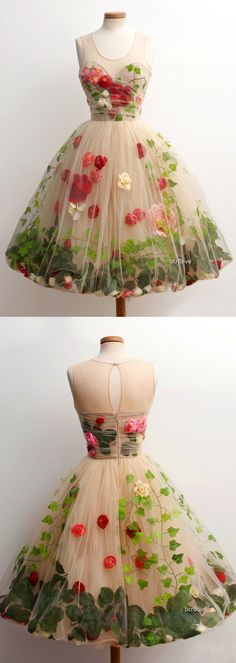 Ivy Garden Sorbet - A garden in a dress - This is so creative ♥ Would love to see it on!