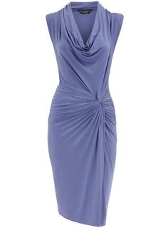 Same cowl dress, different color. Love the unusual color.