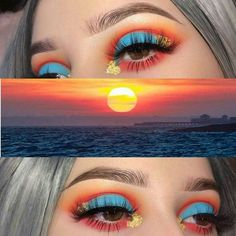 Mar 2020 - Browse the top-ranked list of Colorful Makeup. See more ideas about Makeup, Colorful makeup and Makeup inspiration. Bright Eye Makeup, Makeup Eye Looks, Colorful Eye Makeup, Cute Makeup, Gorgeous Makeup, Beauty Makeup, Coral Eye Makeup, Bright Eyeshadow, Dead Gorgeous