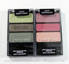 Wet N Wild Eyeshadow Preview Swatches - Soldiers In Charms