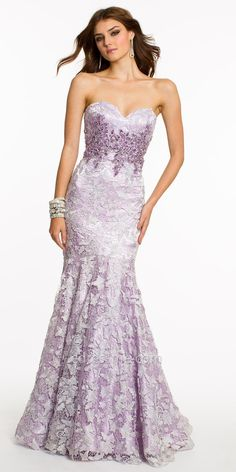 Full Lace With Beaded Bodice Mermaid Prom Dresses by Dave and Johnny  $460