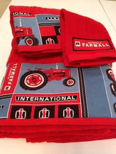 International Harvester / Farmall Themed Towel by MyTimeCreations