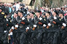 Abkhazian marines marching through Freedom Square in Sukhumi at the 2008 Abkhazian Independence Day Parade.