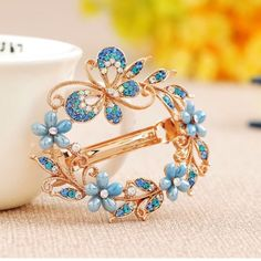 Rhinestone  Light blue hair pieces Super pretty and chic to decorate your hair Accessories Hair Accessories