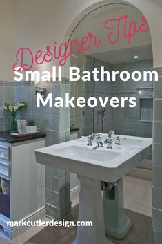 Bathroom renovation and makeover ideas in every style from traditional to modern. Get inspired on how to remodel a small bathroom and make the most space saving ideas work for your home. Top interior designer shares the best decor tips on bath design ideas. #bathroomideas #bathdecor