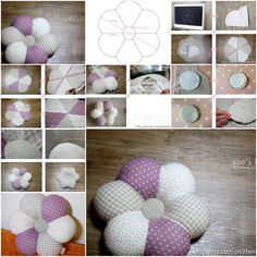 How to sew Flower down Pillows step by step DIY tutorial instructions, How to, how to do, diy instructions, crafts, do it yourself, diy website, art project ideas