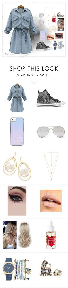 """""""Tea & Cupcakes"""" by dadrumma ❤ liked on Polyvore featuring WithChic, Converse, Sunny Rebel, Ippolita, Natalie B, Concrete Minerals and Mixit"""