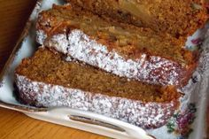 An easy Spiced Pumpkin Bread recipe. Wrap the other in foil and freeze up to one month so that you'll have it on hand for unexpected company. Greek Desserts, Apple Desserts, Apple Recipes, Easy Desserts, Sweet Recipes, Cookie Recipes, Snack Recipes, Vegan Recipes, Pumpkin Bread