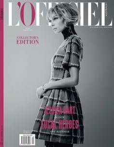 Jessica Hart on the September 2015 cover of L'Officiel Australia