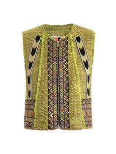 Neon tweed waistcoat