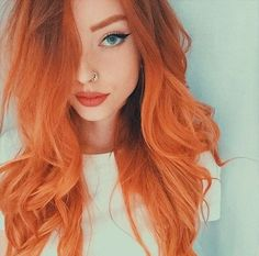The most beautiful head of orange hair color I have ever seen! Crazy Colour Hair Dye, Red Hair Color, Orange Hair Colors, Unique Hair Color, Color Red, Hair Colours, Unique Hairstyles, Pretty Hairstyles, Latest Hairstyles