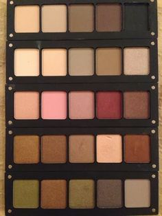 Shades of Red: INGLOT haul! My Inglot Palettes