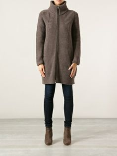 AGNONA - knitted long length cardigan coat