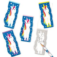 Rainbow Unicorn Mini Memo Pads