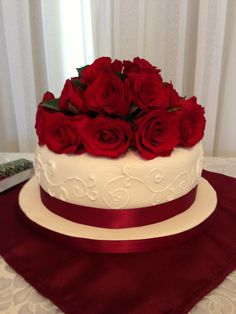 Seven Things Nobody Told You About Ruby Wedding Anniversary Cake Decorations - ruby wedding anniversary cake decorations 40th Wedding Anniversary Cake, Anniversary Cake Pictures, Anniversary Cake Designs, Happy Anniversary Cakes, Ruby Anniversary, Ruby Wedding Cake, Wedding Dress Cake, Red Rose Wedding, Valentine Cake