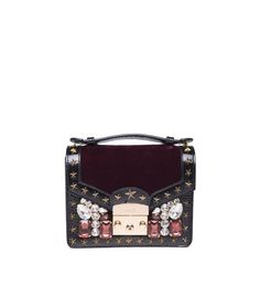 4348ee46b91 Gedebe evening bag. Burgundy velvet chelsea mini bag. Mini bag embellished  with stars.