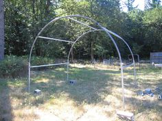 Another trampoline frame greenhouse (or shed or coop).
