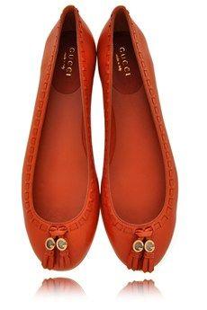 GUCCI MARION Auburn Leather Ballerinas ♥✤ | Keep the Glamour | BeStayBeautiful