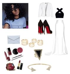 """""""#Bambi"""" by michelle-jovanovic ❤ liked on Polyvore featuring Motel, Rime Arodaky, White House Black Market, Christian Louboutin, Rebecca Minkoff, House of Harlow 1960 and Michael Kors"""