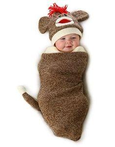 Sock Monkey Newborn Bunting 0-3 Months