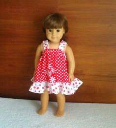 This is the simplest dress you can sew for your little girl's American 18-inch doll. This dress has no curved seams but only strai...