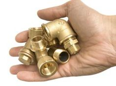 Salvage brass pipes and fittings from an old house or building for your next project.