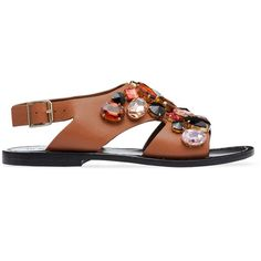 Marni Sandals (6.560 CZK) ❤ liked on Polyvore featuring shoes, sandals, caramel, rubber shoes, marni sandals, marni, rubber sandals and marni shoes