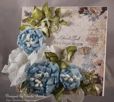 Blue Roses by GLENDA BROOKS - Cards and Paper Crafts at Splitcoaststampers