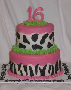 Birthday cake for Sweet Sixteen