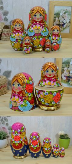 Hand painted matryoshka, a bunch of flowers that never fade!