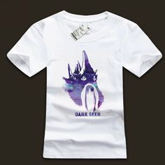 Quality DOTA 2 Dark Seer T-shirt Ink Printing White Shirt