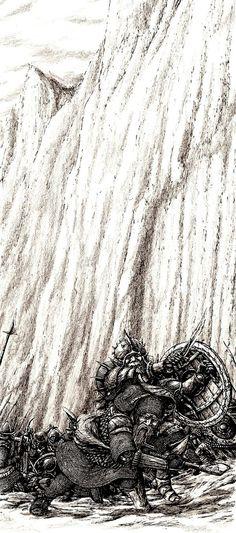 Nain duels Azog by Tulikoura.deviantart.com on @deviantART