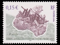 Collection of pretty stamps featuring minerals.